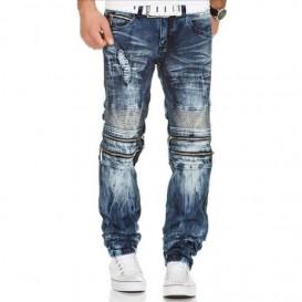 KOSMO LUPO džínové kalhoty pánské KM143 se zipy