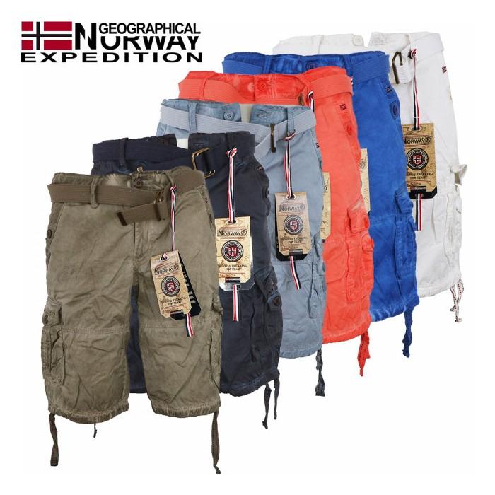 GEOGRAPHICAL NORWAY kraťasy pánské Pablo Men 063 kapsáče bermudy ... 61371a13a6