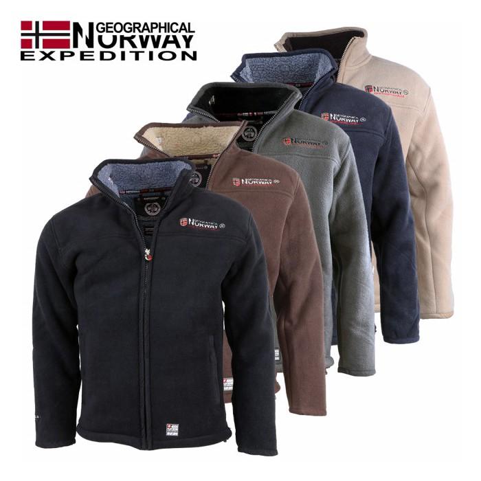 GEOGRAPHICAL NORWAY mikina pánská fleece UBOLT s kožíškem - WALKHARD ... cbb522af9b