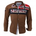 GEOGRAPHICAL NORWAY košile pánská ZORARZ LS MEN 100
