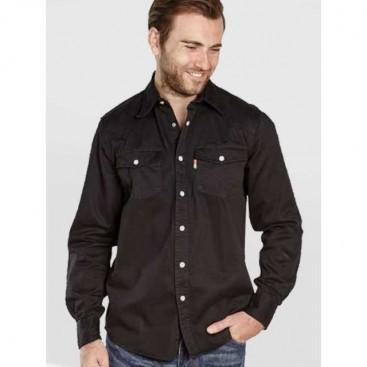 DUKE košile džínová pánská Western Style Denim KS1023 nadměrná velikost