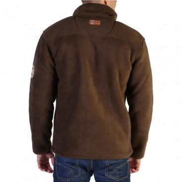 GEOGRAPHICAL NORWAY mikina pánská fleece USINE MEN s kožíškem